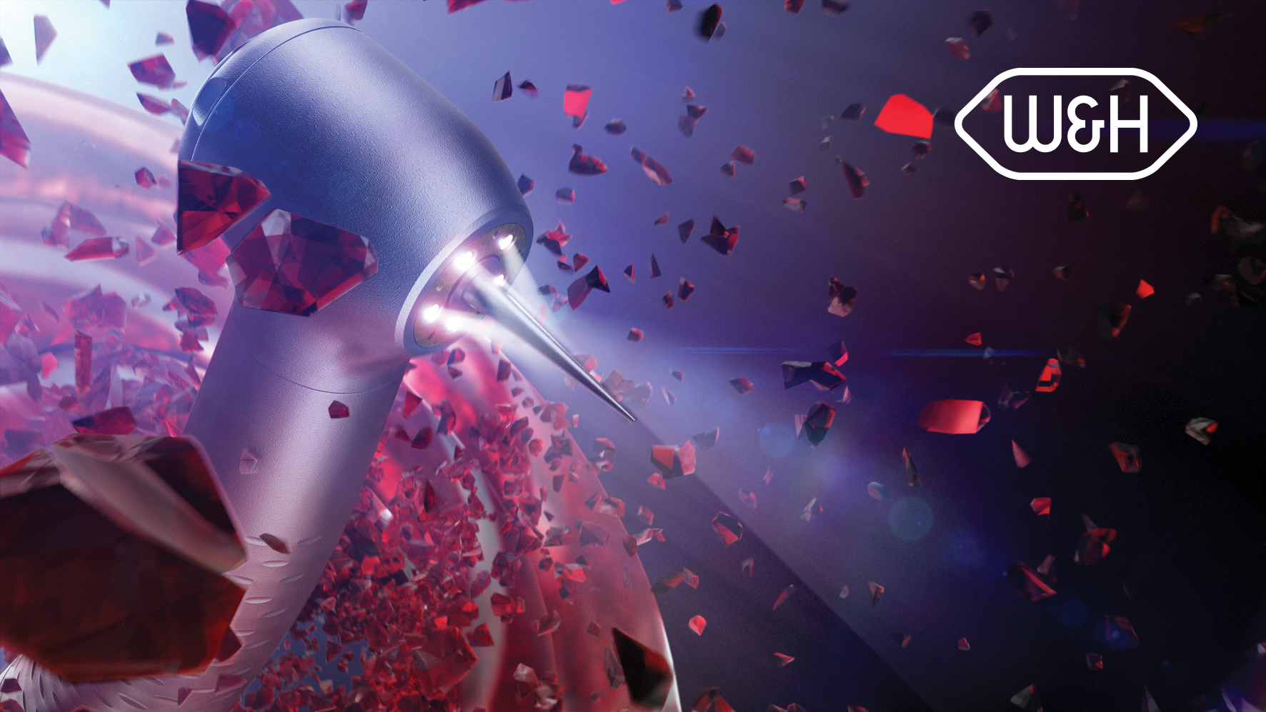 The new Synea Vision turbine with 5x ring LED+ shows that W&H is the technological leader in the LED sector for dental instruments. Dentists benefit from a completely shadow-free view of the treatment field for the first time.