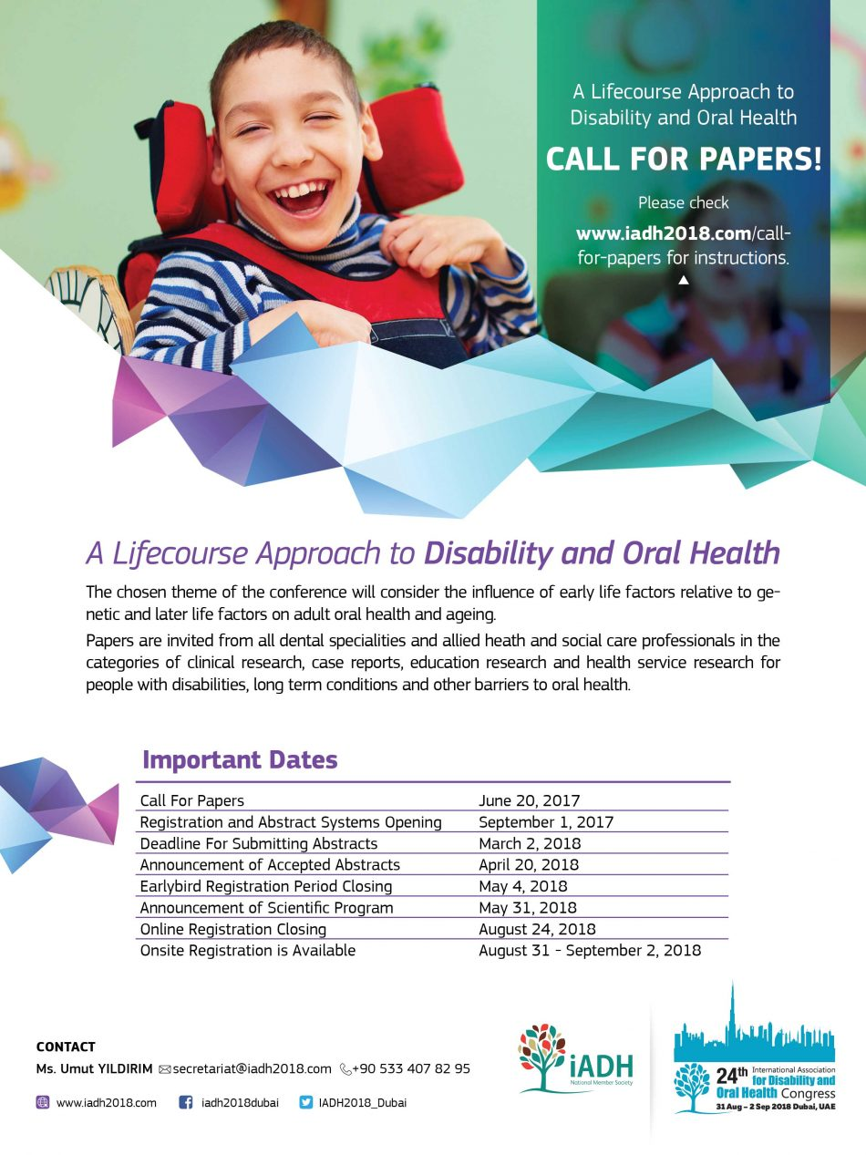 Disability & Oral Health Congress 2018 - Dubai
