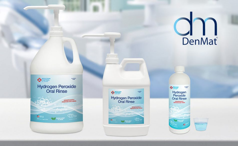 Denmat infection control hydrogen peroxide oral rinse