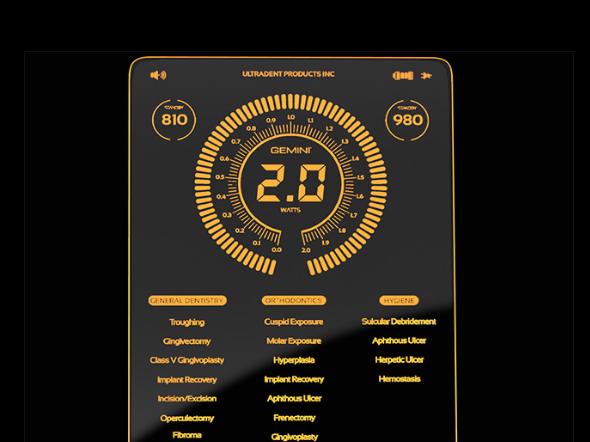 Diode Laser Gemini Ultradent display