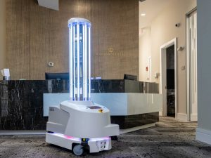 Boston Dental Clinic Deploys UVD Robots Covid-19 Virus sterilization