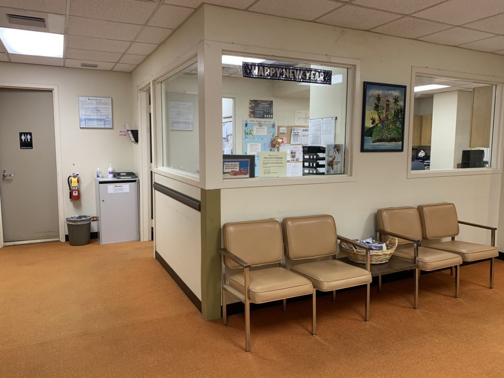 patients waiting room wait area light